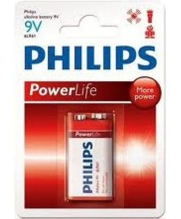 PILA ALCALINA 9V (6LR61) PHILIPS POWER ALKALINE