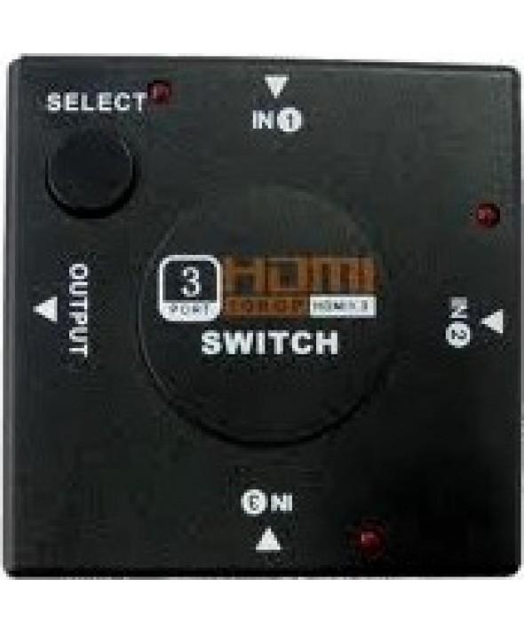 SWITCH HDMI 1080P V1.4 - 3 ENTRADAS - 1 SALIDA
