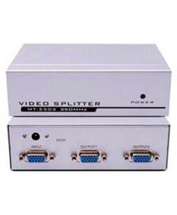 SPLITTER METAL VGA 1 ENTRADA 2 SALIDAS