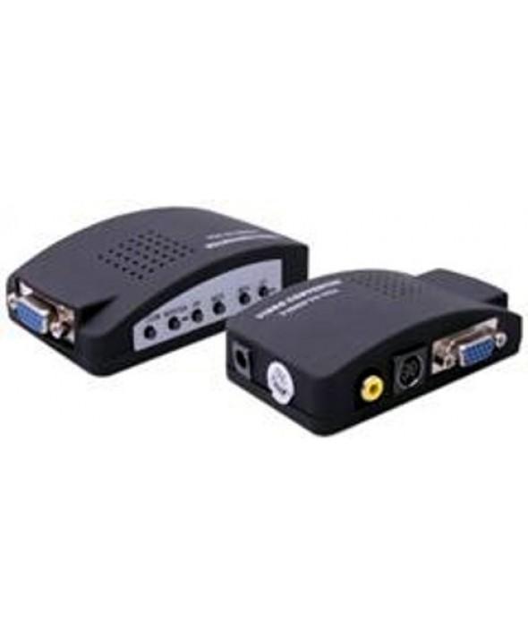 CONVERTIDOR PC (VGA) A TV (RCA) + AUDIO