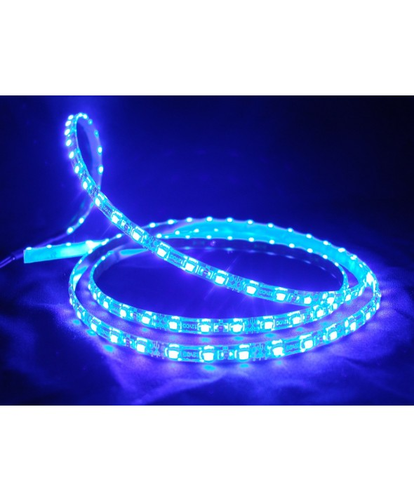 TIRA LED 5m 30 x/m ADHES.12V IP33 2.1A AZUL