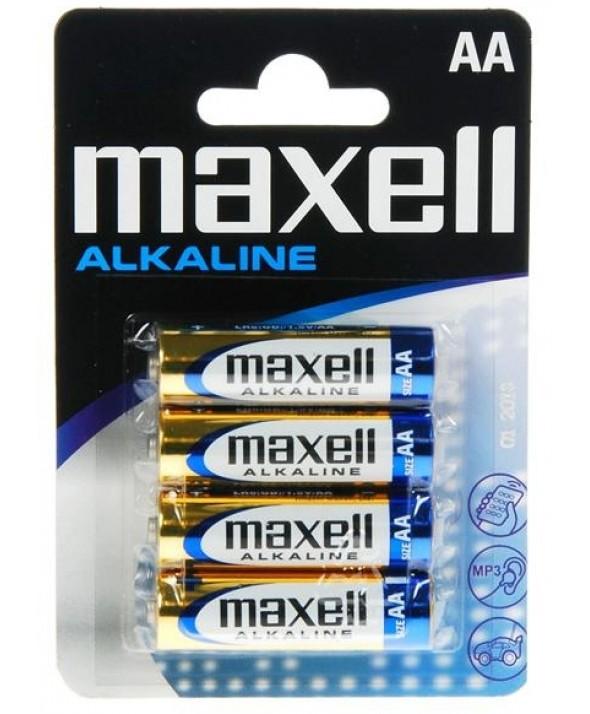 PILA ALCALINA LR06 MAXELL MXL BLISTER 4 PILAS