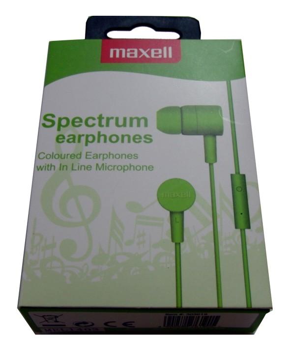 AURICULAR M/L SMARTPHONE MAXELL SPECTRUM VERDE