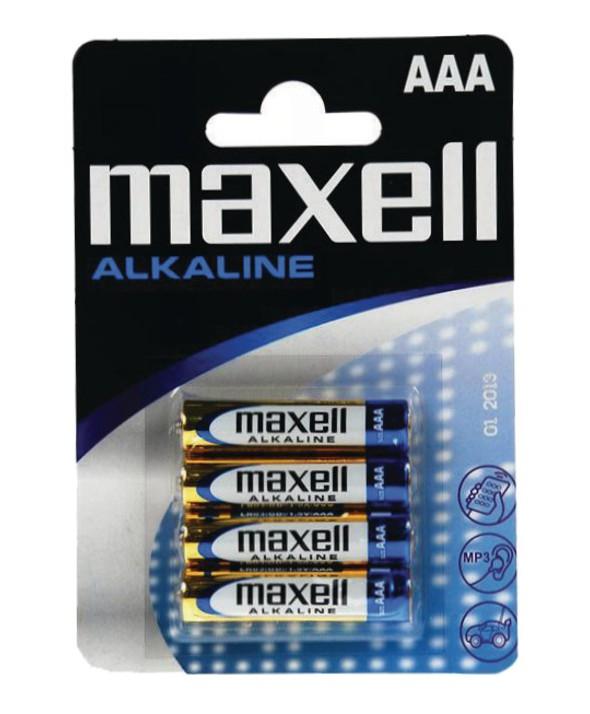 PILA ALCALINA LR03 MAXELL MXL BLISTER 4 PILAS