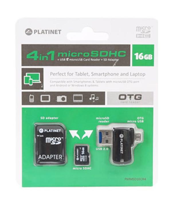 MEMORIA MICROSD 16 Gb+ADAP.SD+LECTOR MICRO Usb