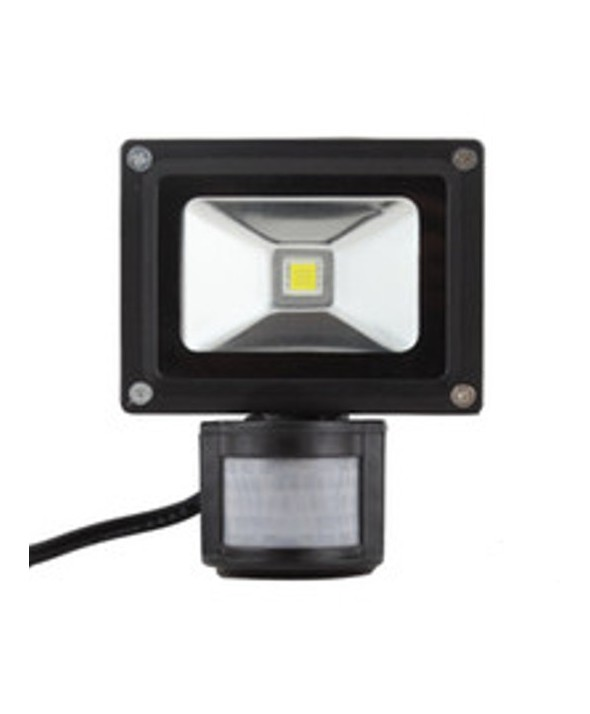 FOCO DE LED (FLOODLIGHT) 220VAC 10W B.FRIO+SENSOR