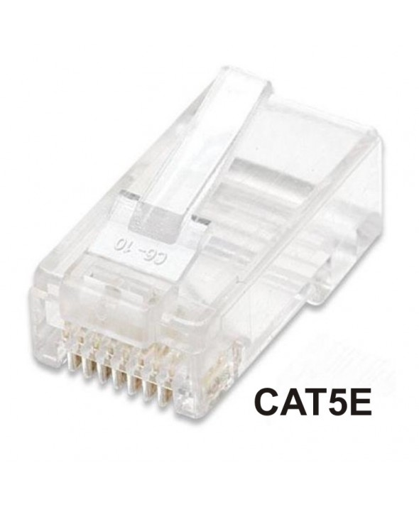CONECTOR TELEFONICO RJ45 8p8c CAT.5e CABLE REDONDO