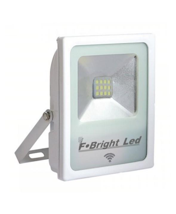 FOCO DE LED EXTRA PLANO 220VAC 10W 6500K+SENSOR MOVIMIENTO BLANCO