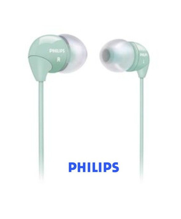 AURICULAR INTRAOIDO SILICONA PHILIPS SHE3590 VERDE MAR