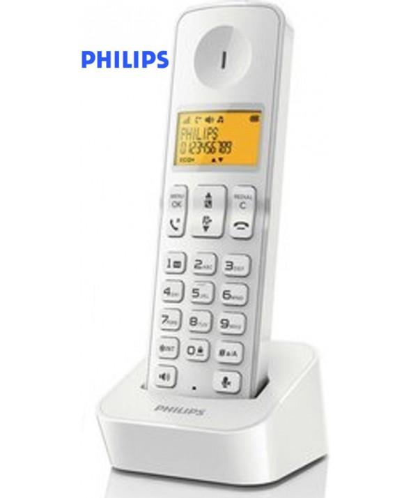 TELEFONO PHILIPS INALAMBRICO BLANCO