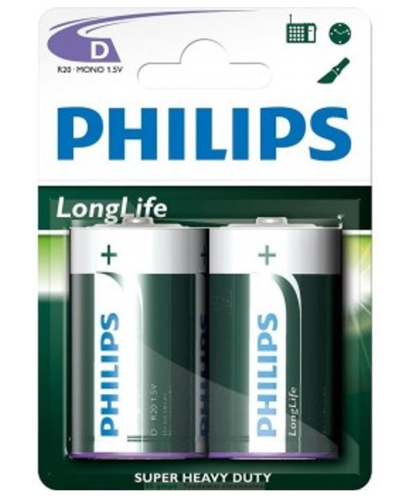 PILAS SALINA R20 (D) PHILIPS