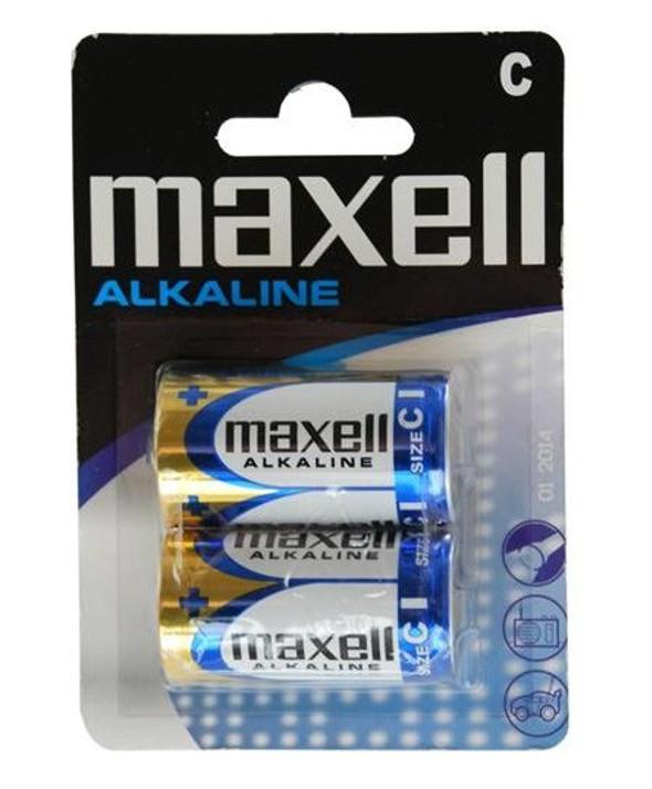 PILA ALCALINA LR14 MXL MAXELL BLISTER 2 UNIDADES