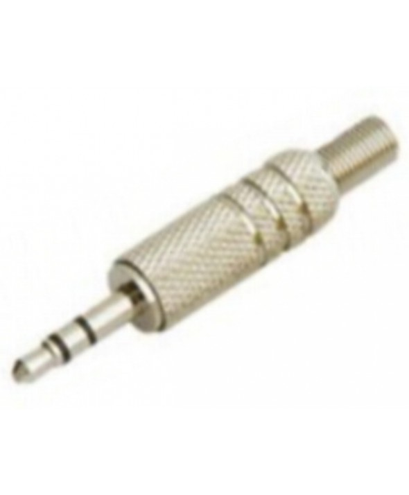 CONECTOR JACK 3.5mm MACHO STEREO METAL
