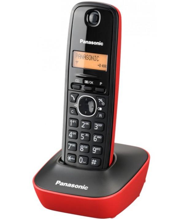 TELEFONO INALAMBRICO PANASONIC KXTG1611 ROJO