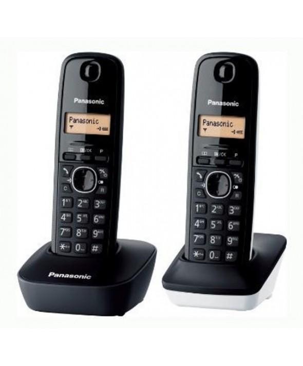 TELEFONO INALAMBRICO DUO PANASONIC KXTG1612 BLANCO/NEGRO