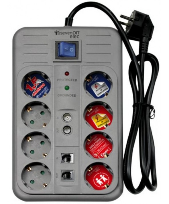 BASE RED MULTIPLE 8 VIAS MULTIMEDIA CON PROTECCION