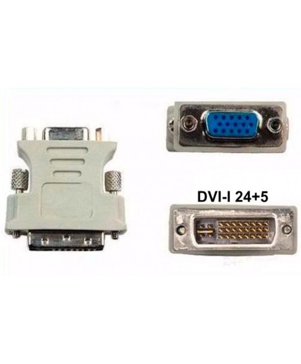 ADAPTADOR DVI-I 24+5 MACHO A VGA HEMBRA