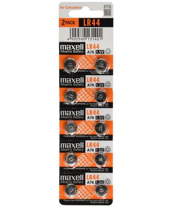 PILA ALCALINA A76 (LR44) MAXELL BLISTER 10 UNIDADES