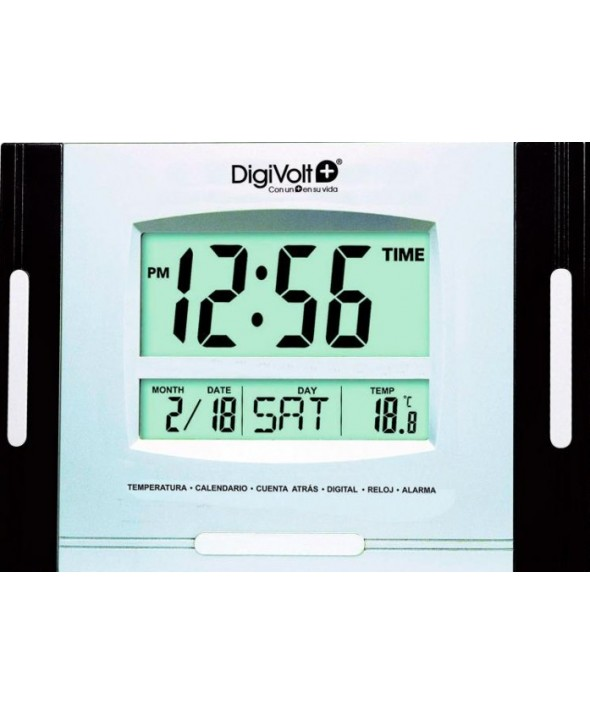 RELOJ DE PARED DIGITAL RECTANGULAR DigiVolt