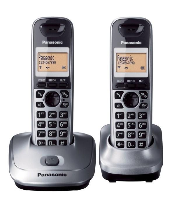 TELEFONO PANASONIC DUO KX-TG2512 GRIS