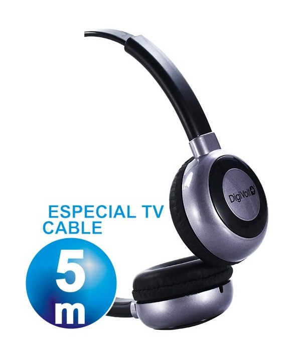 AURICULAR DIADEMA DIGIVOLT TV CABLE DE 5 mts.