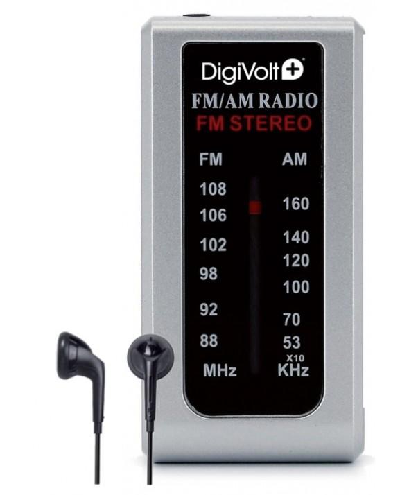 RADIO AM/FM ALTAVOZ CON AURICULAR DIGIVOLT