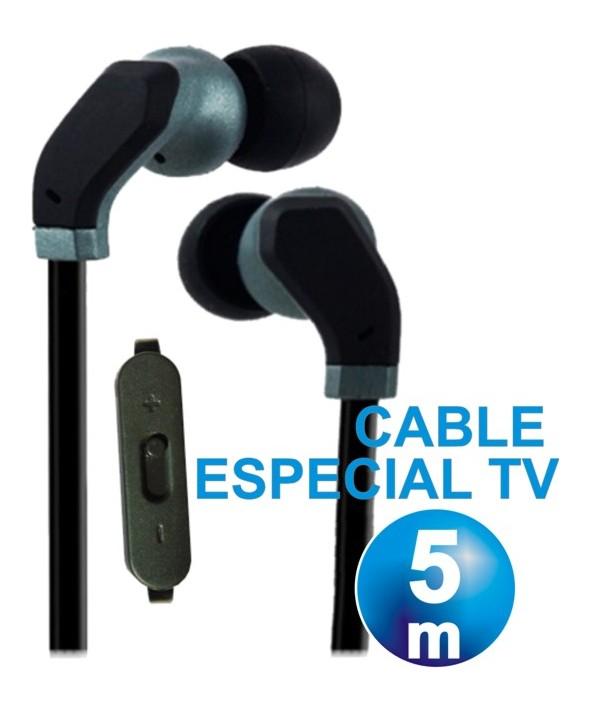 AURICULAR INTRAOIDO SILICONA DIGIVOLT TV CABLE 5 METROS