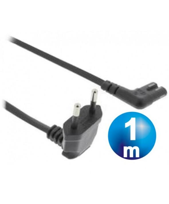 """CABLE ALIMENTACION 2 x 0.75 mm² TIPO """"8"""" CODO 1 m"""