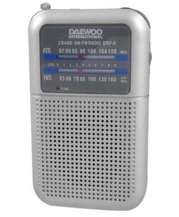 RADIO AM/FM ALTAVOZ + AURICULAR DAEWOO GRIS