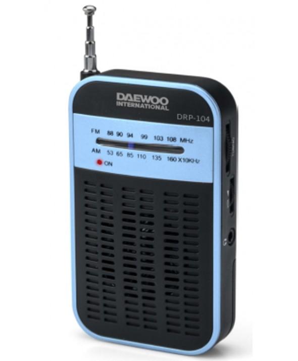 RADIO DE BOLSILLO AM/FM ALTAVOZ EXTERNO DAEWOO