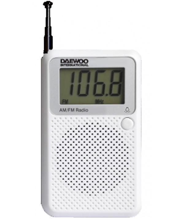 RADIO DE BOLSILLO AM/FM DIGITAL ALTAVOZ EXTERNO DAEWOO