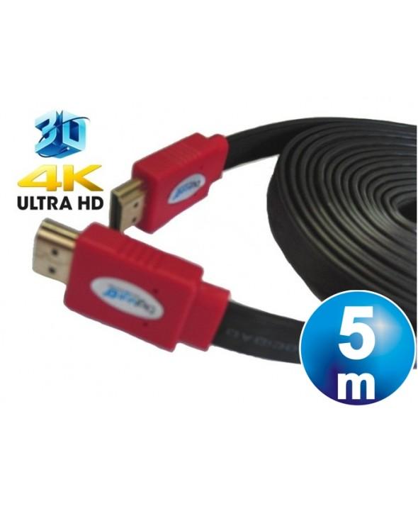 CONEXION HDMI HQ CABLE PLANO M/M V1.4 CABLE 5 m