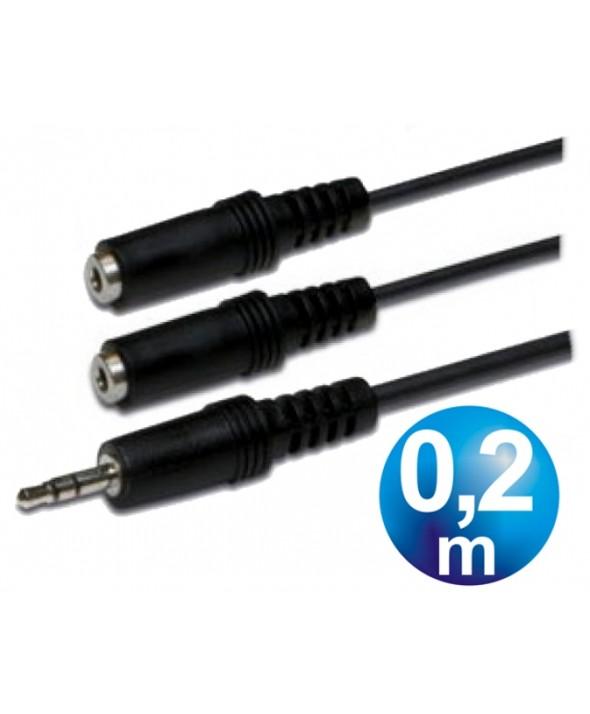CONEX. AUDIO JACK 3.5 ST/M A 2 JACK 3.5 ST/H 0.2m