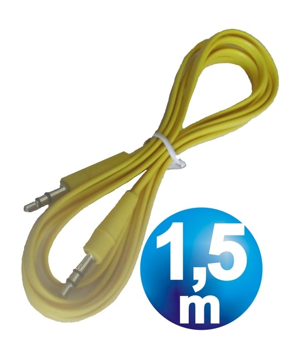 CONEX.AUDIO JACK 3.5mm M/M ST PLANO 1.5m AMARILLO