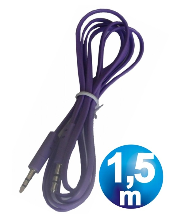 CONEX.AUDIO JACK 3.5mm M/M ST PLANO 1.5m PURPURA