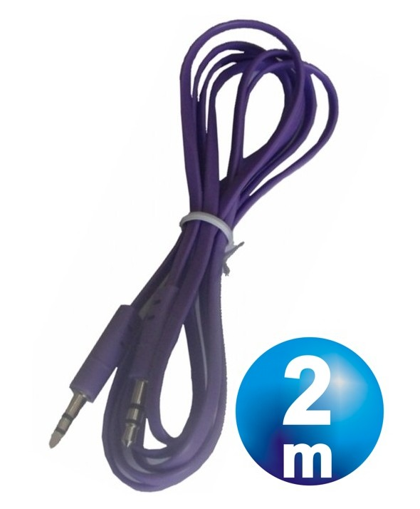 CONEX.AUDIO JACK 3.5mm M/M ST PLANO 2m PURPURA