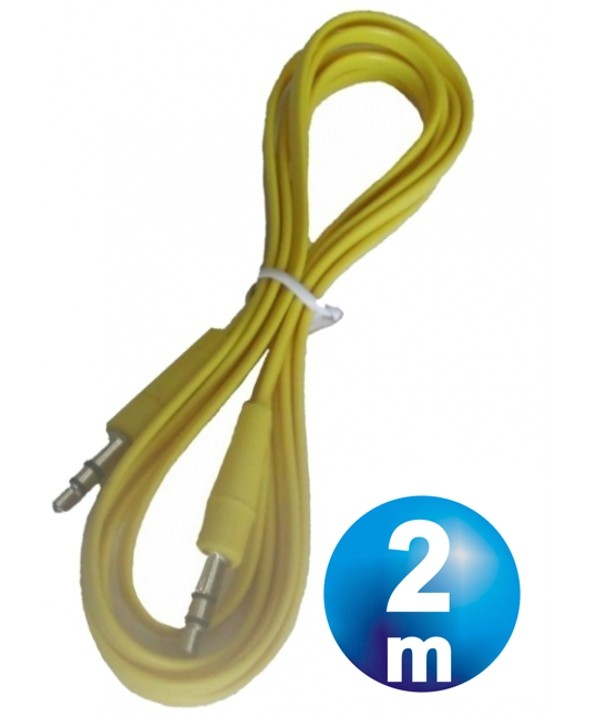 CONEX.AUDIO JACK 3.5mm M/M ST PLANO 2m AMARILLO