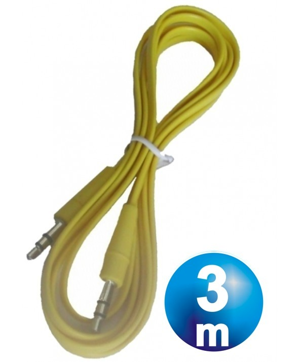 CONEX.AUDIO JACK 3.5mm M/M ST PLANO 3m AMARILLO