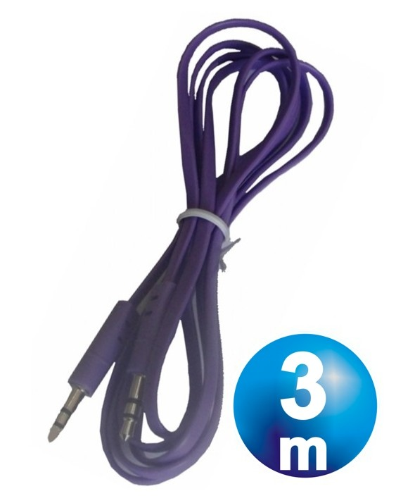 CONEX.AUDIO JACK 3.5mm M/M ST PLANO 3m PURPURA