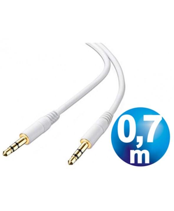 CONEXION JACK 3.5 mm M/M ESTEREO 0.7 m BLANCO