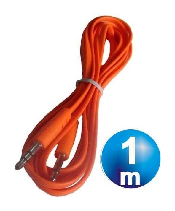 CONEXION JACK 3.5 mm M/M ST PLANO 1 m NARANJA