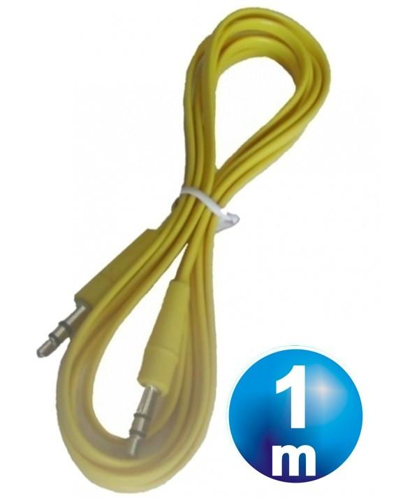 CONEXION JACK 3.5 mm M/M ST PLANO 1 m AMARILLO