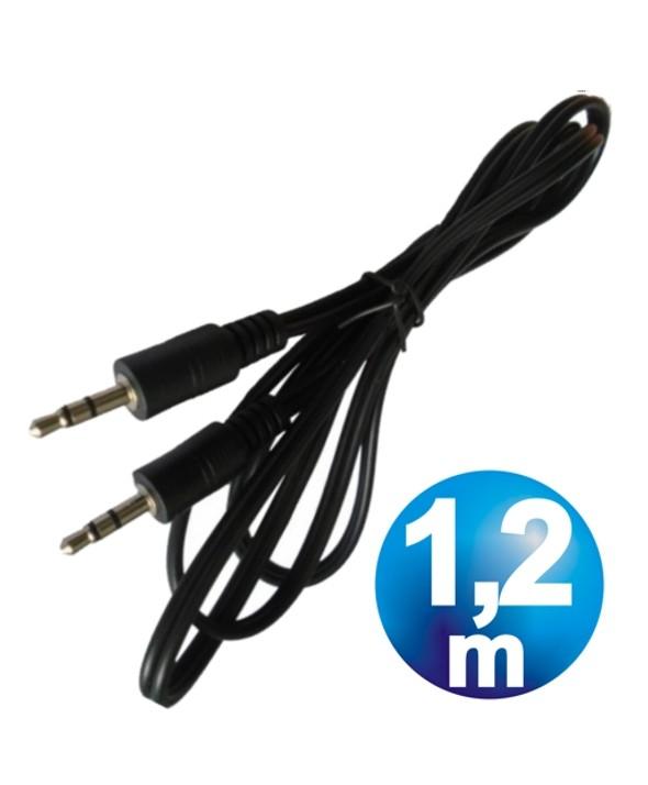 CONEXION JACK 3.5 M / M CABLE 1.2 m ECONOMICO