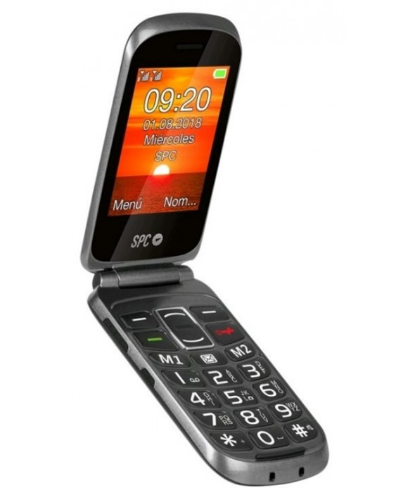 TELEFONO MOVIL CONCHA DOBLE PANTALLA SPC GOLIATH NEGRO