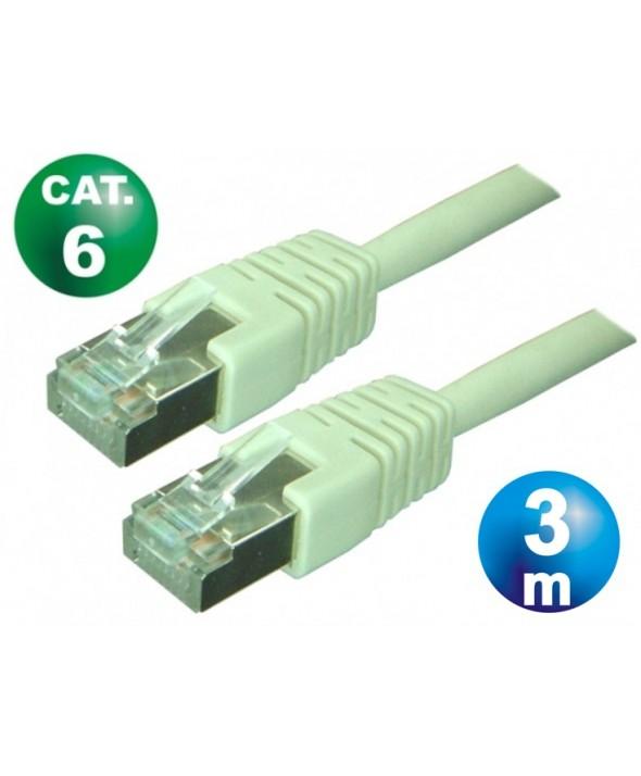 CONEXION TELEFONICA M/M RJ45 8p8c CAT.6 3 METROS