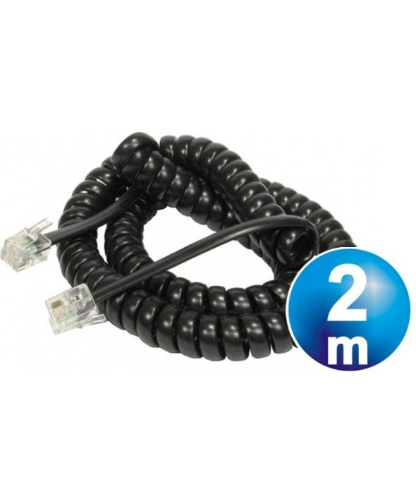 CONEXION TELEFONICA M/M 4p4c NEGRA 2m RIZADA