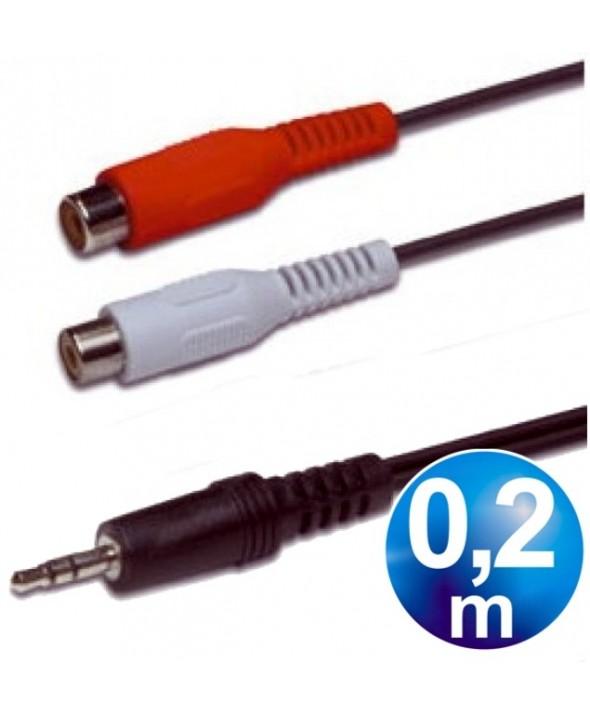 CONEXION AUDIO JACK 3.5 ST/M A 2 RCA/H 0.20m