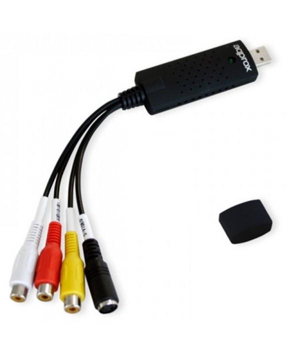 CAPTURADORA AUDIO-VIDEO POR Usb 2.0 RCA + SALIDA VIDEO APPROX