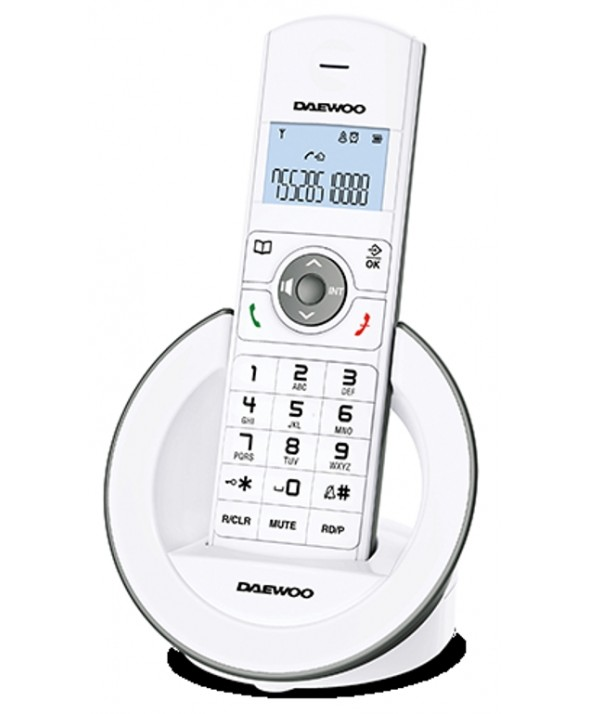 TELEFONO INALAMBRICO MANOS LIBRES AGENDA DAEWOO BLANCO