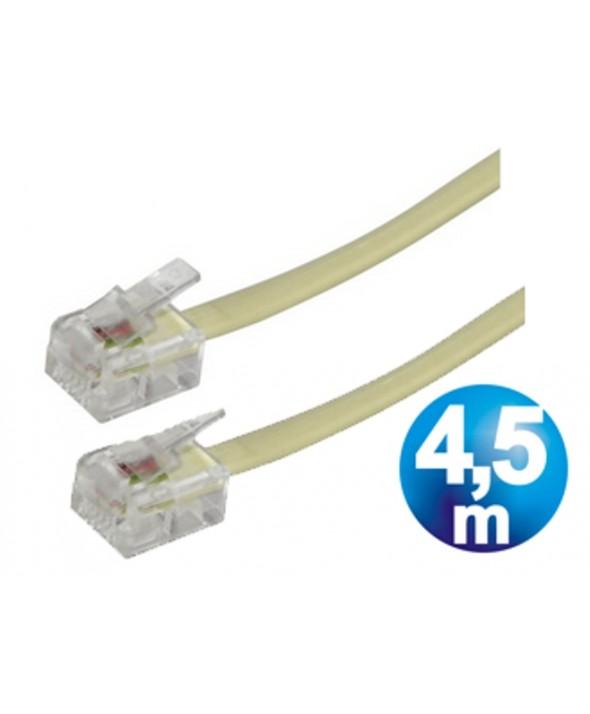 CONEXION TELEFONICA M/M RJ11 6p4c 4.5m BEIGE